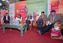 M J Akbar launches his latest book Tinderbox in Jaipur