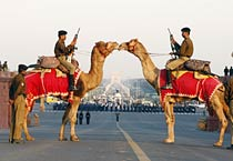 Soldiers rehearse for R-Day