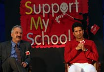 Sachin at launch of 'Support My School' campaign