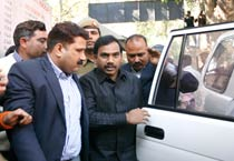 A Raja arrives in Court