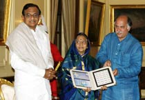 President releases postage stamp on Census of India 2011