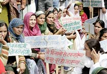 INLD rally against Haryana land acquisition policy of Haryana govt