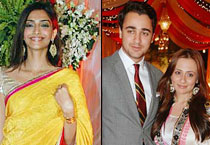 Imran and Sonam at Sameer Dattani's wedding reception