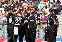 WC: NZ, SL in action in Mumbai