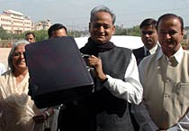 Gehlot presents state budget