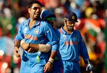 Yuvraj shines as India win by five wickets