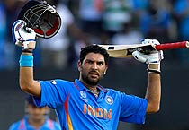 Yuvraj shines as India beat West Indies by 80 runs