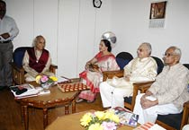 Jasraj, Hema attend Bharat Bhavan meeting