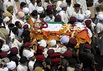 Maharaja of Jaipur Bhawani Singh cremated