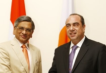 Cyprus Foreign Minister arrives in India