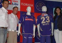 Rajasthan Royals unveil their jersey for IPL 2011