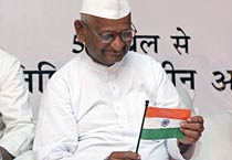 Hazare's fast enters day 2
