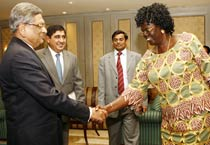 Krishna meets Sudanese envoy
