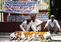 People protest against PWD