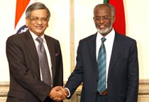 S.M. Krishna meets Sudanese Foreign Minister