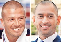 Dhoni's hairdos inspired by Beckham's?