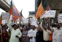 BJP protests petrol price hike