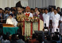 Jaya sworn in as Tamil Nadu CM