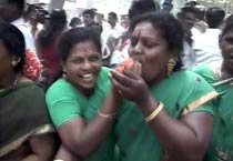 AIADMK supporters celebrate Jayalalithaa's win