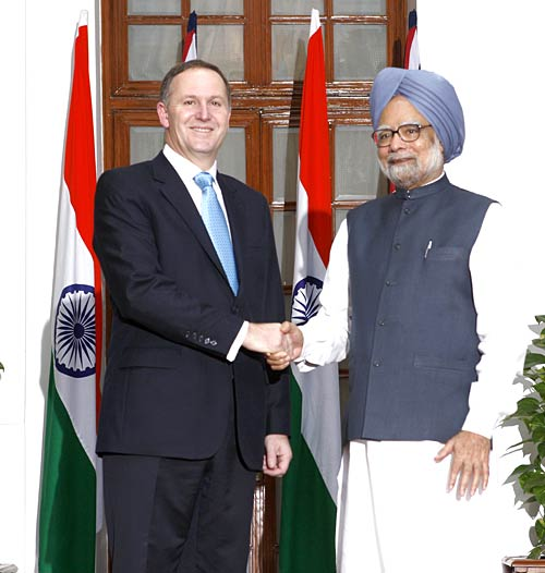 New Zealand PM John Key's India visit