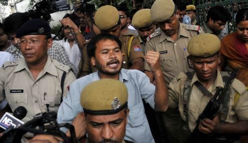 Assam: Protest turns violent in Dispur