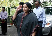 Jayalalithaa arrives in Delhi on two-day visit