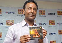 Athiban Bose during the launch of music CD
