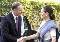 New Zealand PM meets Sonia Gandhi