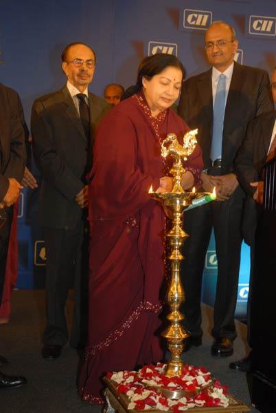 Jayalalithaa adresses CII National Council meeting