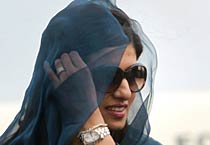Pakistan Foreign Minister Hina Rabbani Khar in India