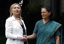 Hillary Clinton meets Indian leaders