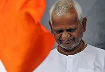 Anna Hazare through his fast
