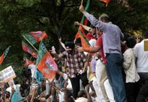 BJP protests against Delhi CM