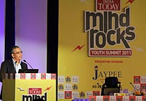 Aroon Purie's welcome address at Mind Rocks