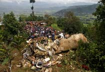 Plane crashes in Nepal