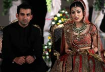 Gambhir ties the knot with Natasha