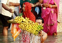 Chhath Puja celebrated with fervour