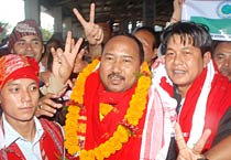 Jubilant UPDS leaders in Guwahati