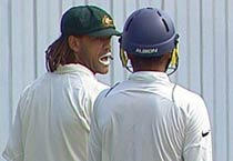 Andrew Symonds and Harbhjan Singh