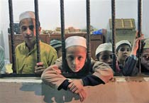 Chained children rescued from Pak seminary