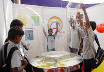 School children exhibit their innovations at the Chennai Science Festival