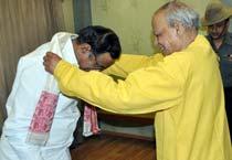 P Chidambaram and Assam Governor J.B Patnaik