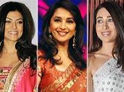 Sushmita Sen, Madhuri Dixit and Karisma Kapur