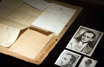 Documents on display at at Beit Hatfutsot museum