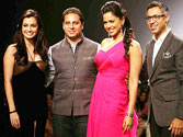 Dia Mirza and Sameera Reddy, designer duo Shantanu and Nikhil