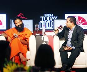 Baba Ramdev and Chetan Bhagat
