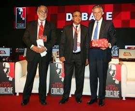 Manoj Joshi, Aroon Purie and Jon Huntsman Jr