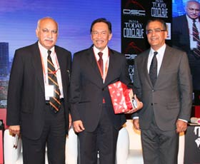 MJ Akbar, Anwar bin Ibrahim and Aroon Purie
