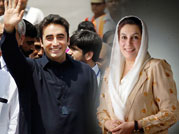 Bilawal Bhutto Zardari (left) and Benazir Bhutto