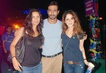 Mehr Rampal, Arjun Rampal and Sussane Roshan